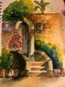 Sicily photo ~ watercolor