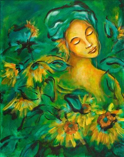 woman-with-sunflowers-painting