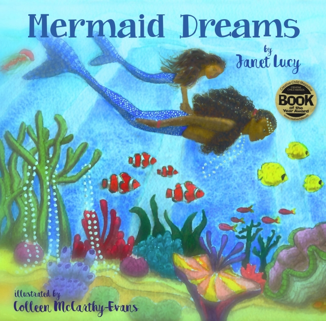 mermaid dreams front cover with award